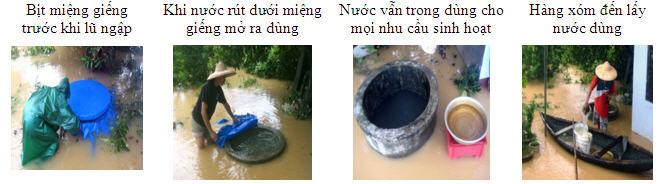 Bảo vệ nước giếng trong mùa mưa lũ