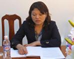Bà Hoàng Thị Thu Hằng - Trưởng phòng Tổ chức - Hành chính - Công ty cổ phần xây dựng và phát triển  Miền Bắc - Nghệ An